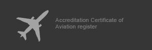 Accreditation Certificate of Aviation register